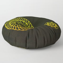 Wheels  from the Past Floor Pillow