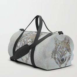 Wolf Head Illustration Duffle Bag