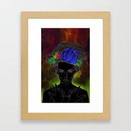 Flower Queen Framed Art Print