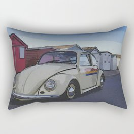 Southend on Sea Beach Huts Homage Rectangular Pillow