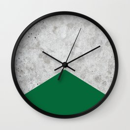 Concrete Arrow Forest Green #326 Wall Clock