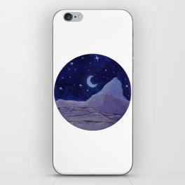 Moonlight Mountain - Acrylic Nature Painting iPhone Skin