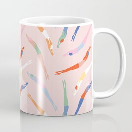 Art Deco Divers in Champagne Coffee Mug