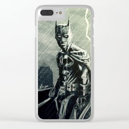Gotham in Rain Clear iPhone Case