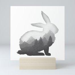 Bunny Rabbit Hare Double Exposure Surreal Wildlife Animal Mini Art Print