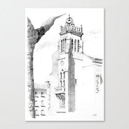 Sigean, patrimoine vivant classique Canvas Print