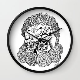 Katrina (white version) Wall Clock
