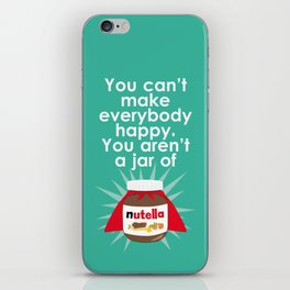 Nutella fan poster. Nutella quote iPhone Skin