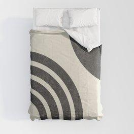 Mid Century Modern - Sun & Rainbow BW Comforters