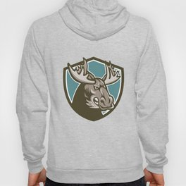 Angry Moose Mascot Shield Hoody