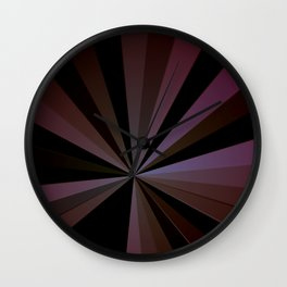 Comic book brown sunburst Wall Clock