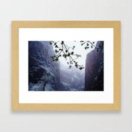 Secret Snow Mountain Framed Art Print