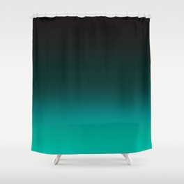 Ombre Turquoise Shower Curtain