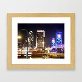 River City Lights Framed Art Print