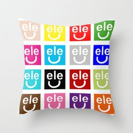 ele petti smile Throw Pillow