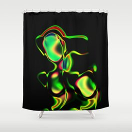 Samurai Mech Shower Curtain