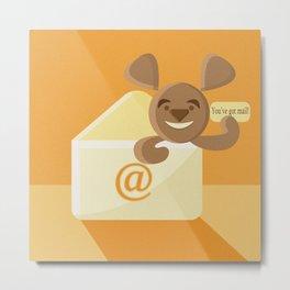 SEO bear in the mail Metal Print
