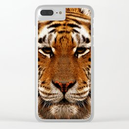 camouflage tiger Clear iPhone Case