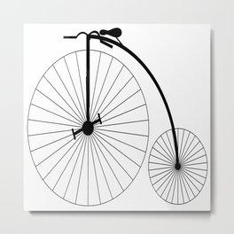 Penny Farthing Bicycle Metal Print