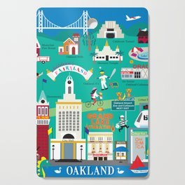 Oakland, California - Collage Illustration by Loose Petals Cutting Board
