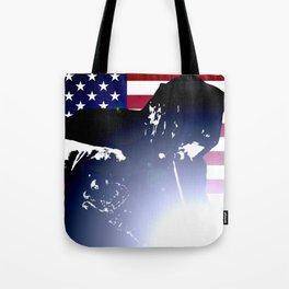 Welder: American Flag Tote Bag