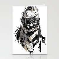 metal gear Stationery Cards featuring Metal Gear Solid V BS  by Hisham Al Riyami