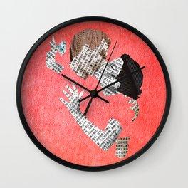 Newspaper LOVE Wall Clock