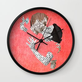 Newspaper LOVE Wall Clock