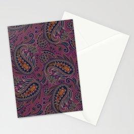 Meredith Paisley - Eggplant Purple Stationery Cards