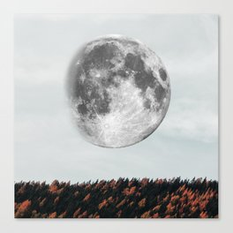 Moon in the fall Canvas Print