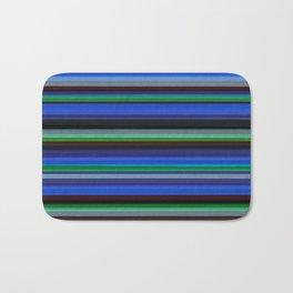 Colored Lines - Blue Bath Mat