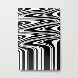 Stripes, distorted 6 Metal Print
