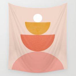 Abstraction_Circles_Balance_Modern_Minimalism 008 Wall Tapestry