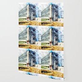 Bauhaus Dessau, Aquarell Wallpaper