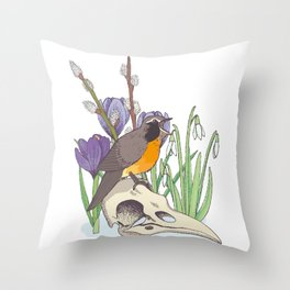 Hello, spring! Throw Pillow