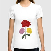 peonies T-shirts featuring PEONIES by Alba Rivadulla Duró