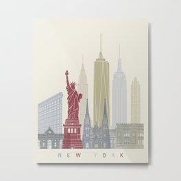 New York skyline poster Metal Print