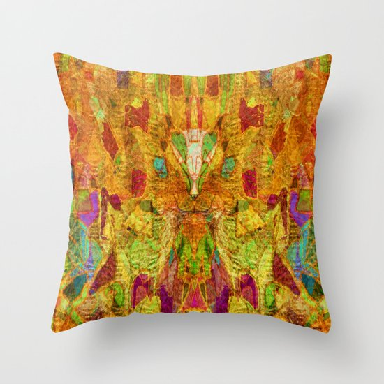 Hiding Face Throw Pillow
