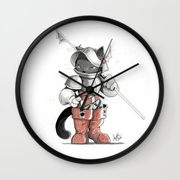 Dragoon Russian Blue Wall Clock