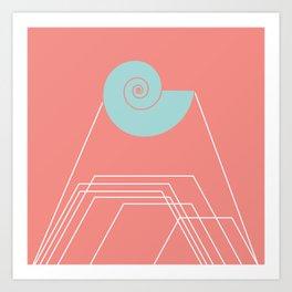 The Shell Sound Art Print