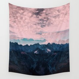 Pastel mountain mood Wall Tapestry