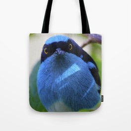 Blue Bird Watching Tote Bag