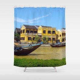 BOATS AT HOI ANN Shower Curtain