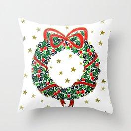 Christmas Wreath II Throw Pillow