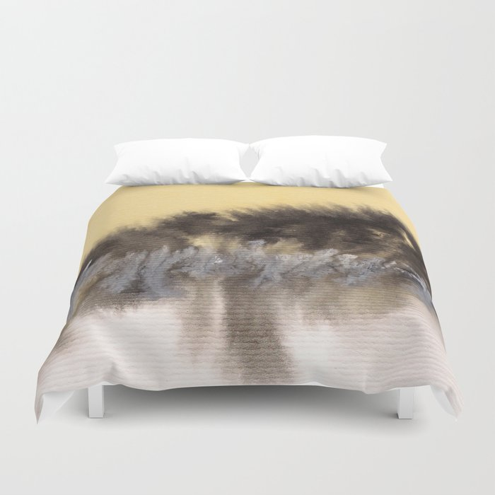Watercolor abstract landscape 09 Duvet Cover