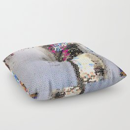Tiffany Glass Style Greece Street Floor Pillow