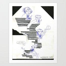 dimension swim Art Print