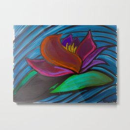 Monsoon Lotus Metal Print