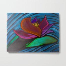 Monsoon Lotus Metal Print