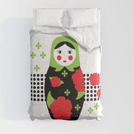 Pop-art Russian Doll Matryoshka Comforters